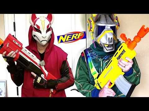 NERF Fortnite BATTLE - DJ Yonder Vs Drift!