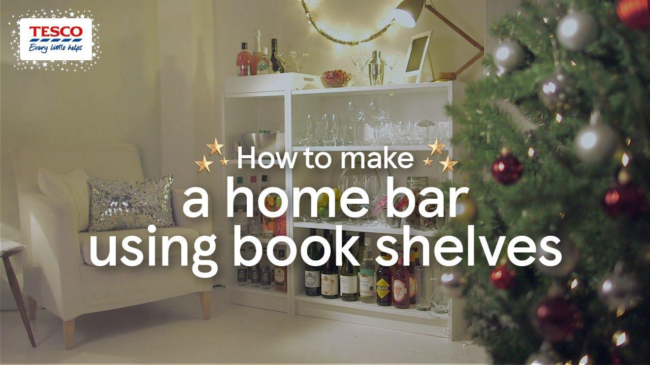 How To Make A Home Bar Using Book Shelves Tesco Living
