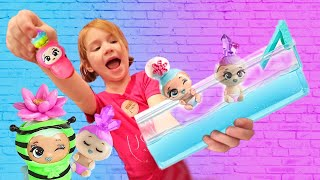 BOY or GIRL?? A mystery package for Adley with a pretend play swimming pool & new Blume Baby Pop!