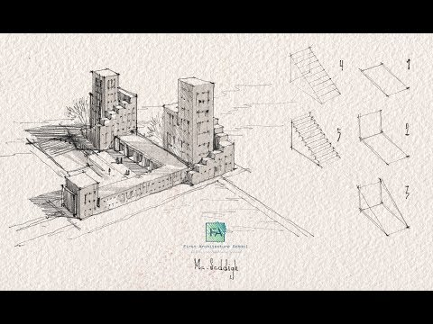draw-like-an-architect---essential-tips---basic-shapes---stairs---part-4--2019