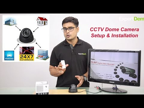 How to install CCTV Dome Camera for Home, Office or any other place