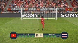 Việt Nam vs Thái Lan - Penalty - PES19 - Dự đoán Loạt sút luân lưu