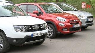 Fiat 500X vs. Dacia Duster vs. Mitsubishi ASX (2015)