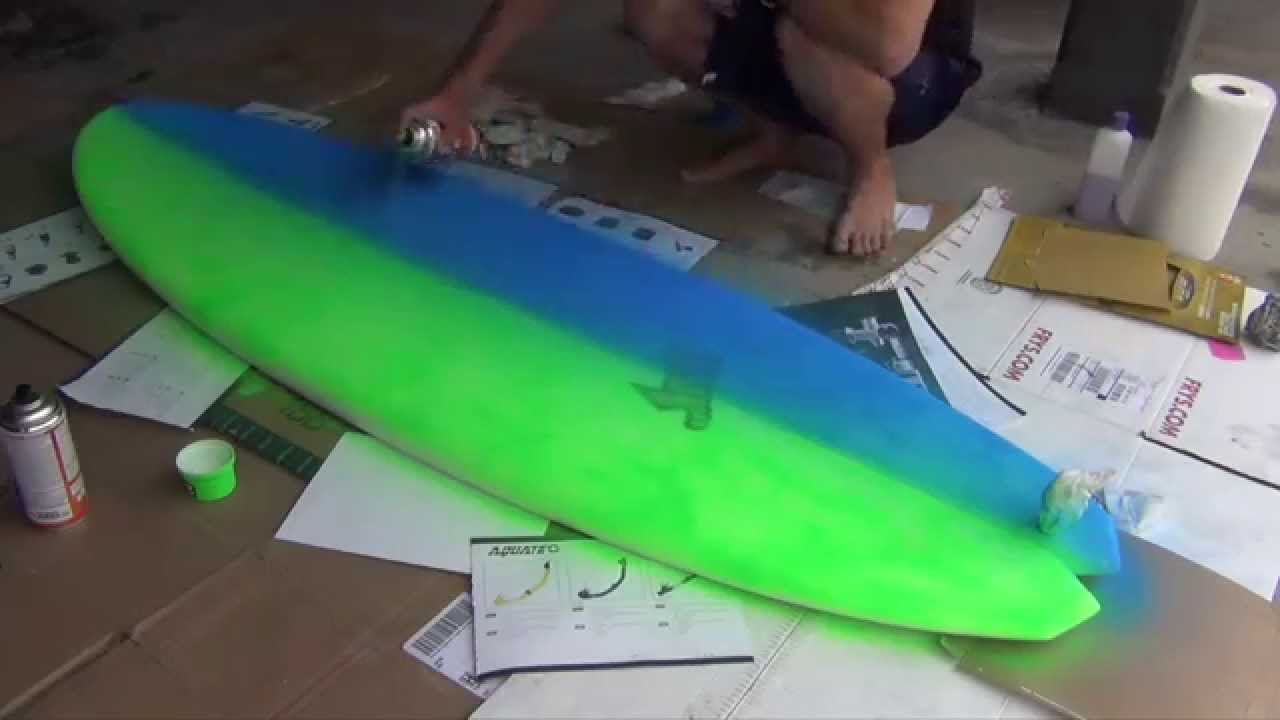 How To Paint Your Surfboard Youtube