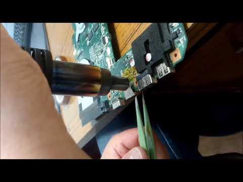 Перепайка разьема HDMI