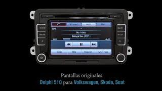 Pantalla / autorradio original RCD510 Delphi para Volkswagen, Skoda, Seat