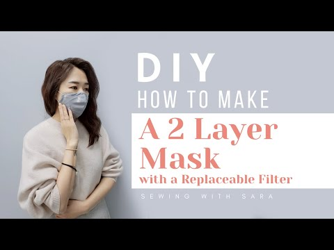 DIY Mask : How To Make A Mask With A Replaceable Filter (Free Pattern) Ver.2 - Sewing Therapy