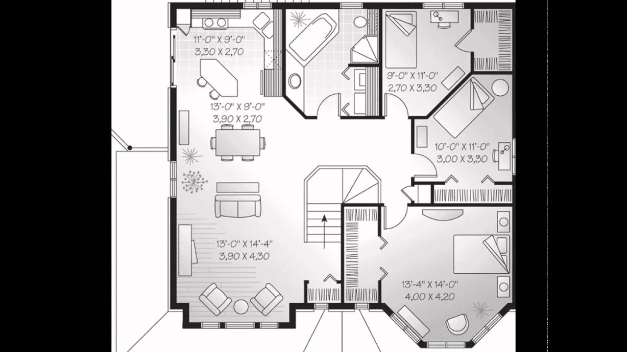 Family home plans multi family home plans single for Single family home blueprints