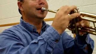 How to Hold the Trumpet and play the note E