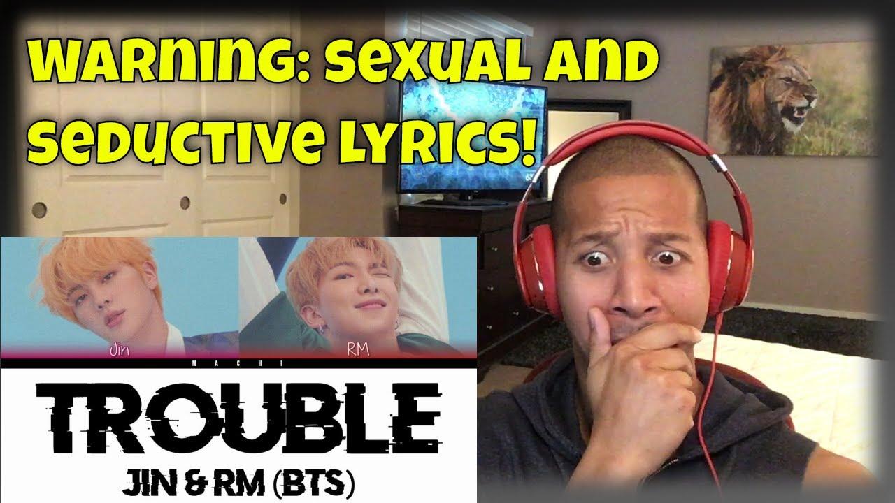 BTS RM & Jin  - 'TROUBLE' Reaction
