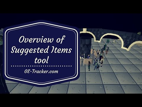 [OSRS Flipping/Merching] Overview of Suggested Items tool