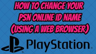 How to change playstation online id ps4 videos / InfiniTube