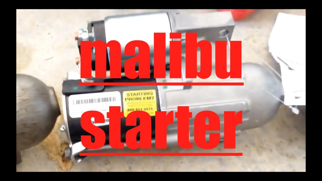 How to replace starter motor Chevrolet Malibu radic YouTube