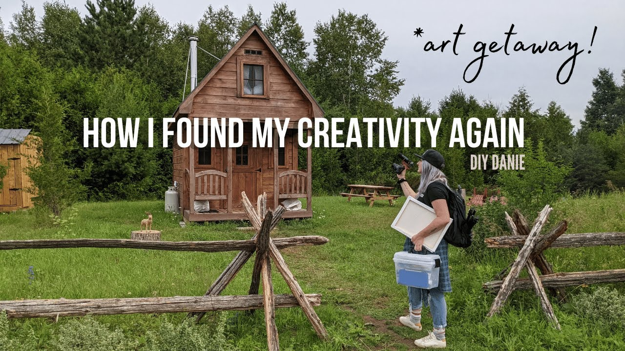 how i got out of my creative funk | Off-The-Grid Tiny Cabin Adventure! | DIY Danie