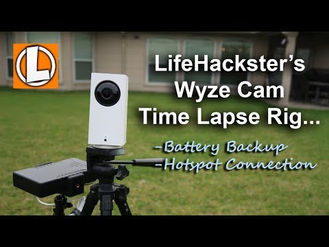 Wyze Cam Security Camera Versatility - Time Lapse, Battery Back Up and  Hotspot Connection