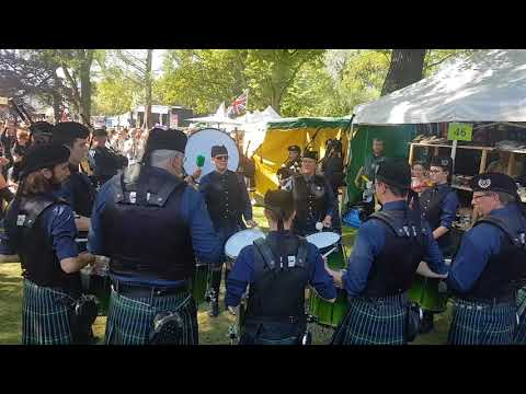 The Owl Town Pipe & Drum Band  auf dem Highland  Gathering Peine 2018 - Hector the hero