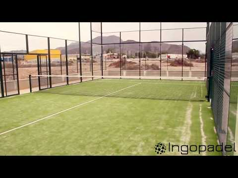 construction terrain de padel tennis ingopadel youtube. Black Bedroom Furniture Sets. Home Design Ideas