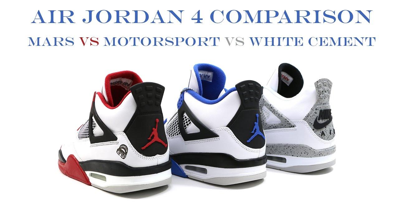 Comparison - The Air Jordan 4 IV Motorsport   @mjo23dan