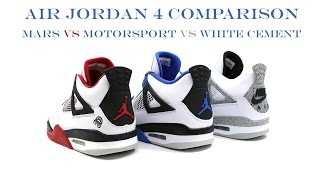 Comparison - The Air Jordan 4 IV Motorsport | @mjo23dan