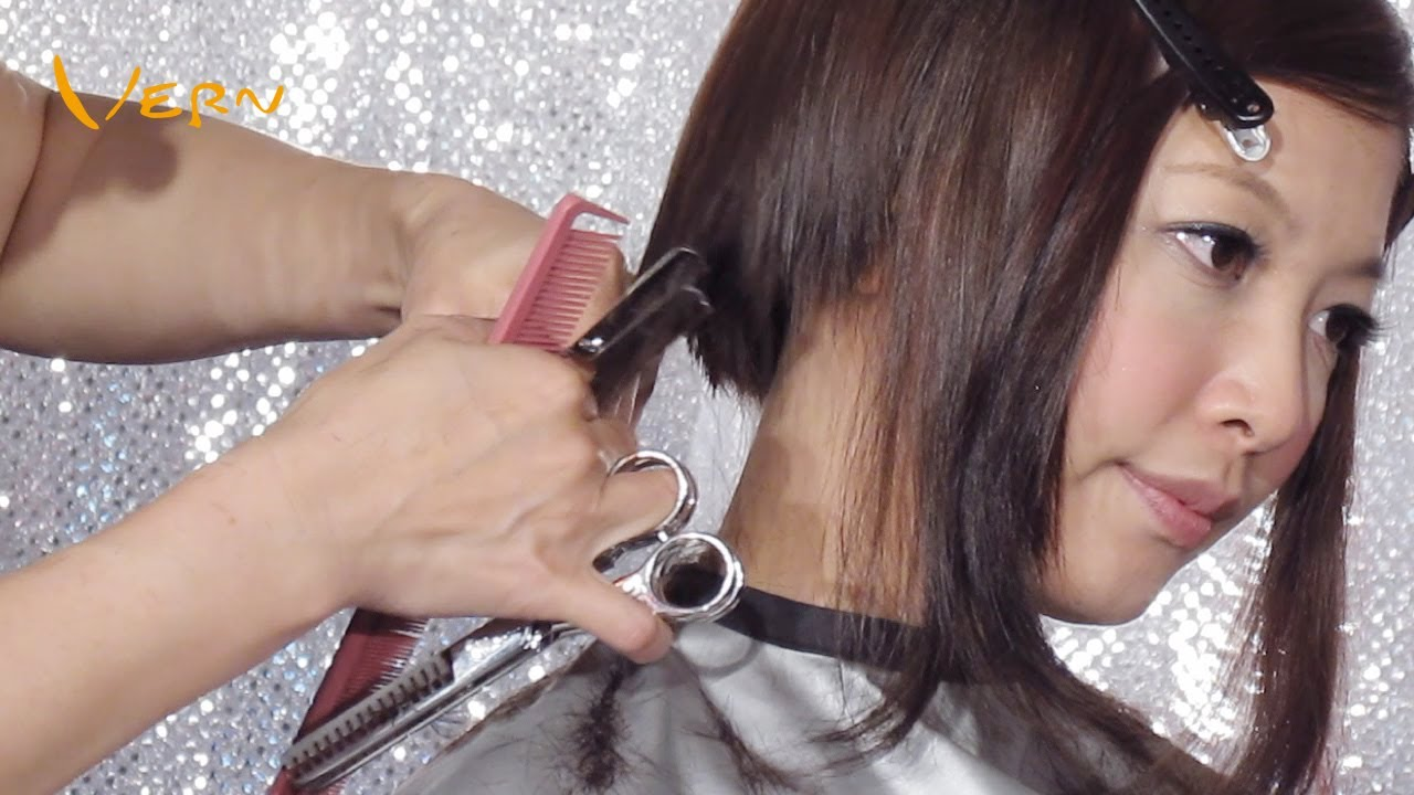 How To Cut Pixie Concave Bob Women Haircut With Curly