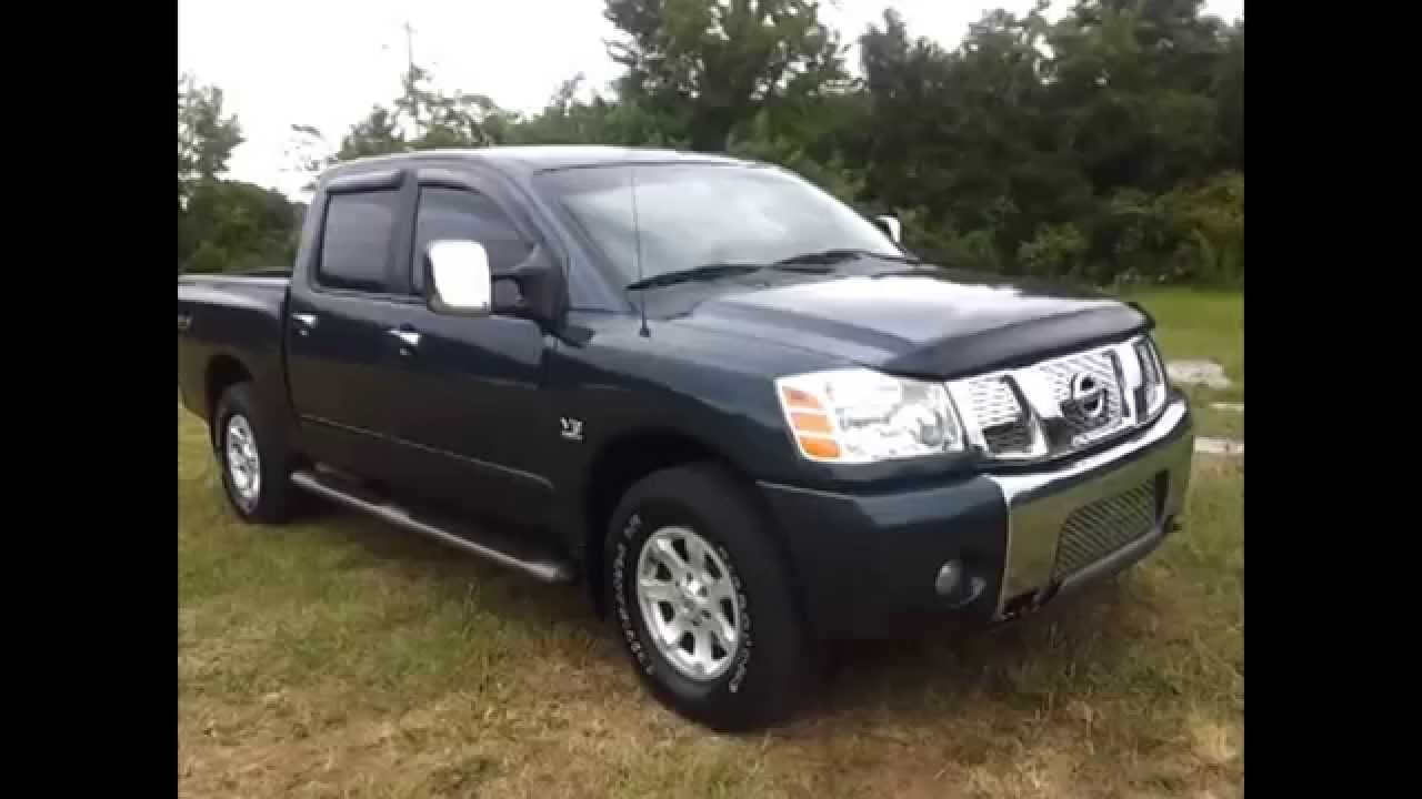 Sold 2004 nissan titan le crew cab 4x4 off road 5 6 endurance v 8 for sale call 888 439 8045 youtube