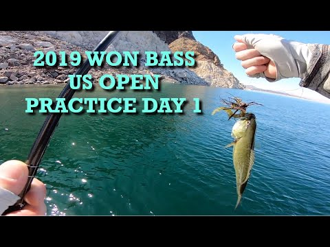 2019 WON Bass US Open Practice Day 1 - Bass Fishing Lake Mead Nevada