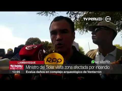 """Ministro del Solar: """"Daños en Complejo Arqueológico Ventarrón son recuperables"""""""