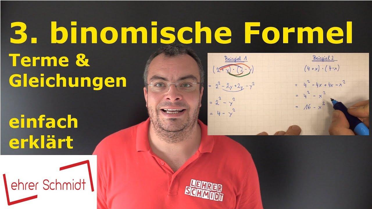 3 Binomische Formel Einfach Erklärt Mit Beispielen Mathematik