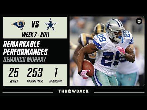 [NFL Throwback] Rookie DeMarco Murray Rushes for 253 Yards! | Remarkable Performances