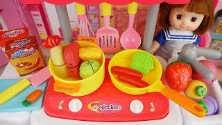Baby Doli and Kitchen food toys baby doll play