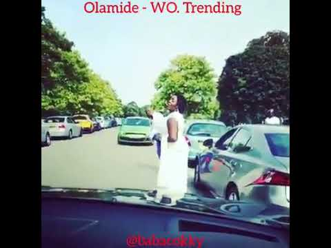 Bridesmaid and a grooms man, dancing to Olamide's wo on the streets of London.