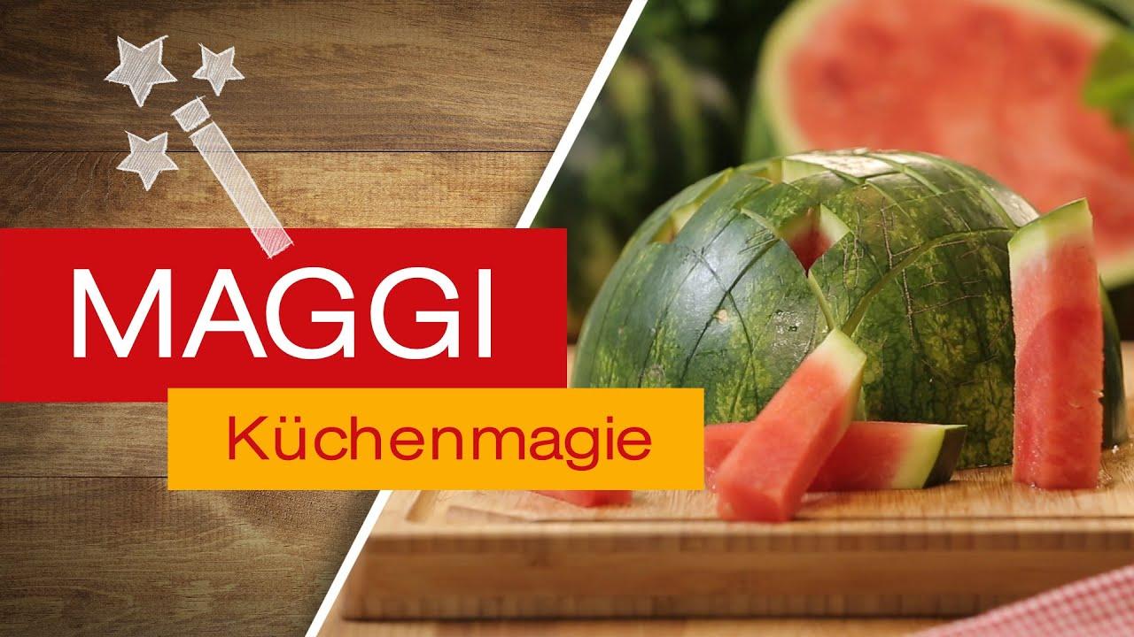 Wassermelone In Stifte Schneiden Maggi Kuchenmagie Youtube