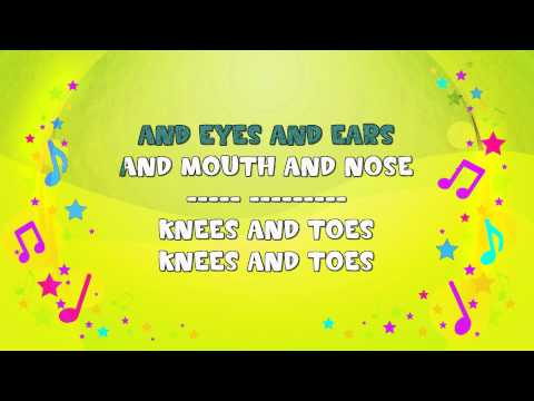 Head, Shoulders, Knees and Toes | Karaoke | Action Song | Nursery Rhyme | KiddieOK