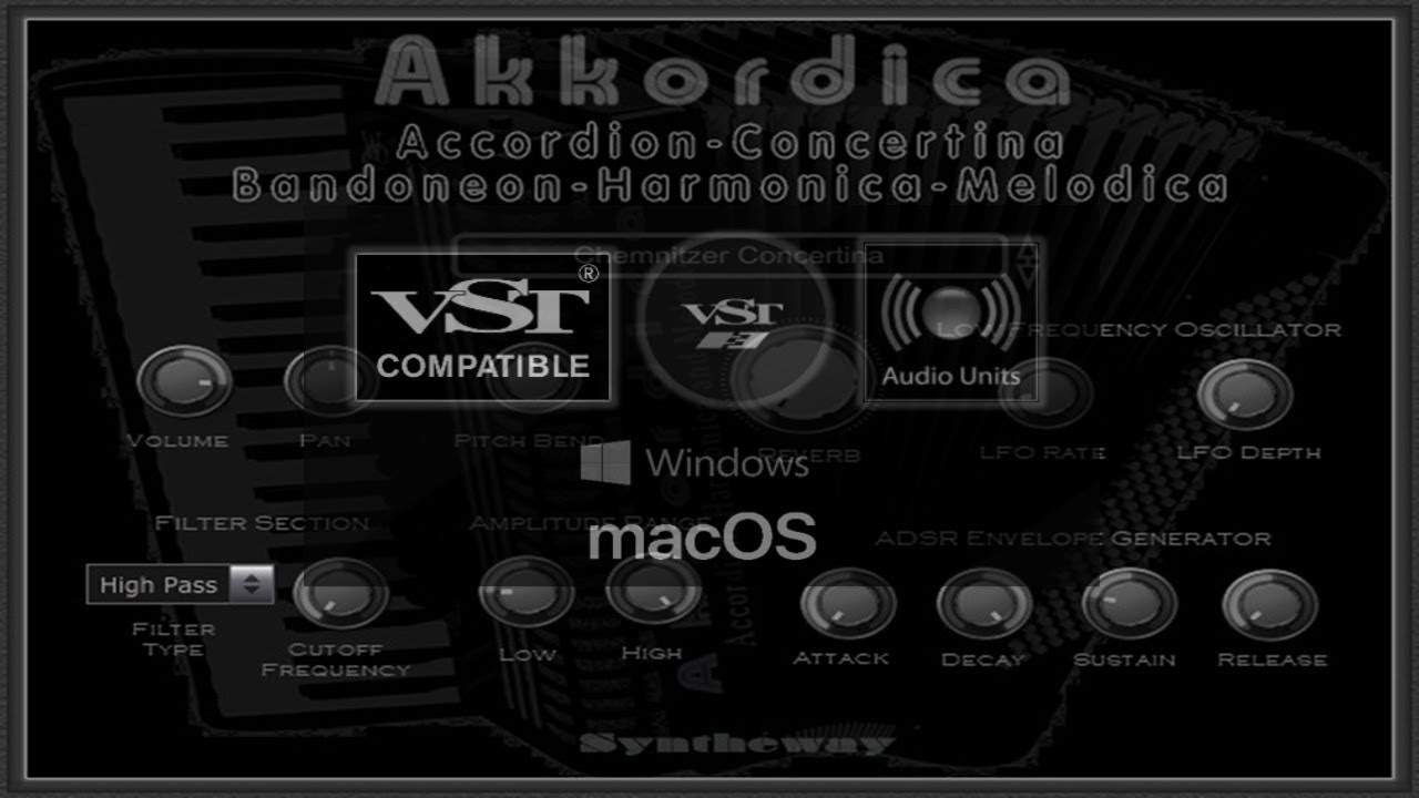 Free Reed Aerophone Instruments: Virtual Bandoneon VST VST3 Audio
