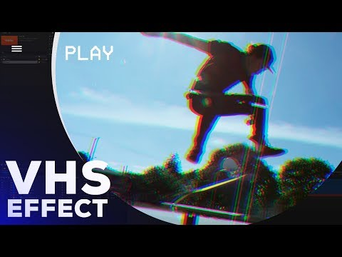 VHS Glitch Effect In After Effects  - After Effects Tutorial