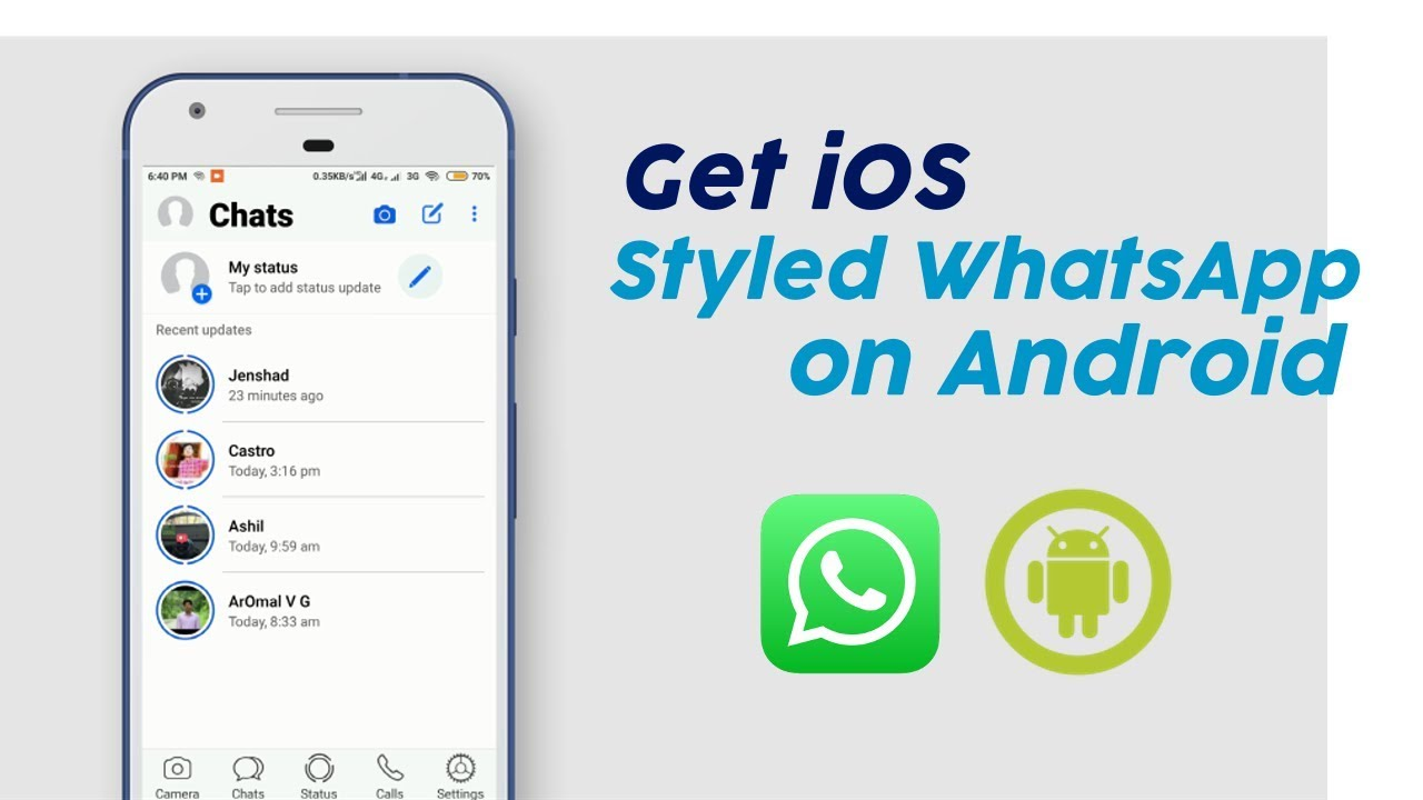 Get iOS Styled WhatsApp Theme for Android - New 2020 - YouTube
