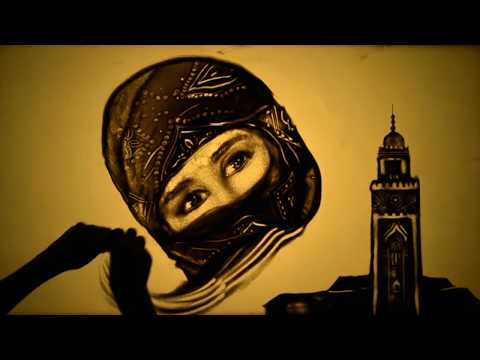 "Sand art ""Beautiful Morocco"" by Kseniya Simonova - Рисунки песком ""Марокко"" (Ксения Симонова)"