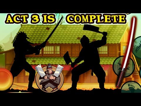 Shadow Fight 2 Special Edition. Defeating Butcher With Katana As Promised. End Of Act 3!