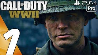 Call of Duty WW2 - Gameplay Walkthrough Part 1 - Prologue (Full Game) PS4 PRO