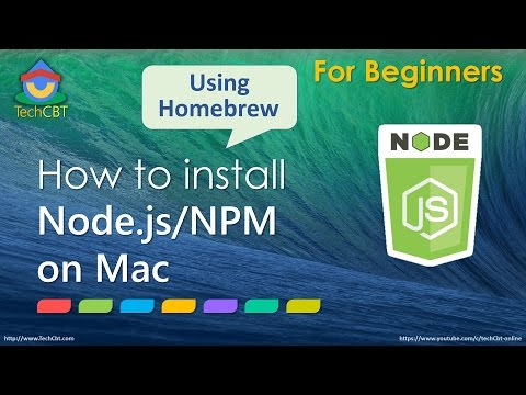 How to install Node js and Node Package Manager (NPM) on Mac