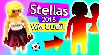 Playmobil DIY 🇩🇪 WM 2018 Stellas Fussball Party Outfit | Playmobil DIY Idee Kids Club