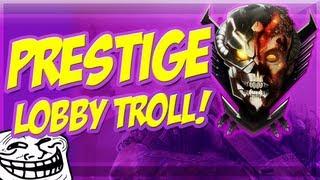fake prestige lobby troll noob gets reset hilarious black ops 2 trolling