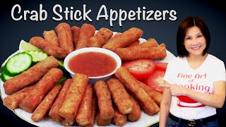 Crispy Fried Crab Stick Appetizers - Finger Food  - Quick and Easy Recipe - 油炸蟹柳条開胃菜