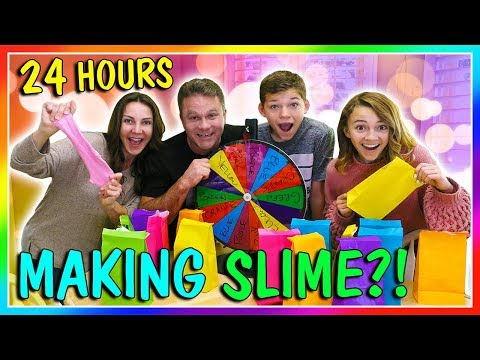 24 HOURS OF MAKING SLIME | OVERNIGHT CHALLENGE | We Are The Davises