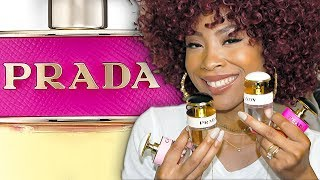 Prada Candy Gift Set Fragrance Collection Review Featuring Prada Candy, L'eau, Florale, Kiss + Gloss