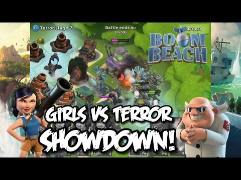 Boom Beach - SHOWDOWN! - Girls VS Terror! (Dr.Terror Boom Beach Event)