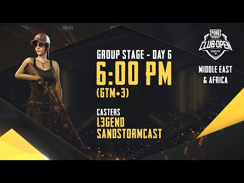 [Arabic] PMCO ME&AF Group Stage Day 6 | Spring Split | PUBG MOBILE CLUB OPEN 2020