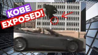 Kobe jumps over a speeding car (Aston Martin)