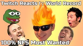 Twitch reacts to World Record - Need for Speed Most Wanted 100% - 8:20:54