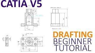 CATIA V5 صياغة تعليمي للمبتدئين - كيفية إنشاء 2D باستخدام صياغة